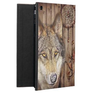 rustieke houten de vangerwolf van de korrel inheem