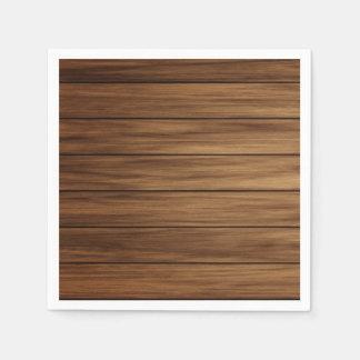 Rustieke houten landboerderij wegwerp servetten