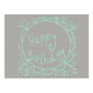 Rustieke Verjaardag Briefkaart