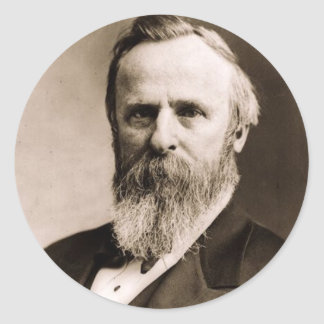 Rutherford B. Hayes Ronde Sticker
