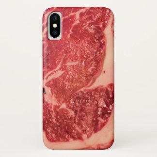 Ruwe iPhone X van de Textuur van het Lapje vlees iPhone X Hoesje