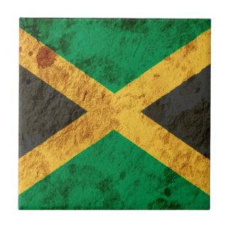 Ruwe Jamaicaanse Vlag Tegeltje Vierkant Small