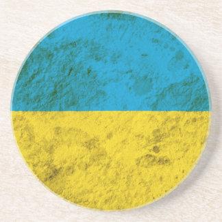 Ruwe Oekraïense Vlag Zandsteen Onderzetter