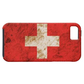 Ruwe Zwitserse Vlag Tough iPhone 5 Hoesje