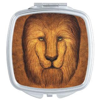 Ruwharige leeuw make-up spiegel