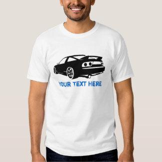 S13 zwarte + uw tekst shirt