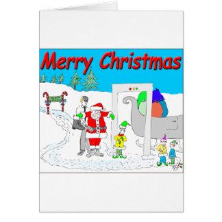 s5 kerstman en cartoon TSA - de Vrolijke Cartoon Kaart