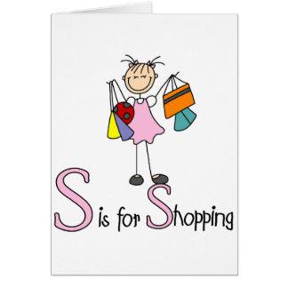 S is voor het Winkelen Kaart
