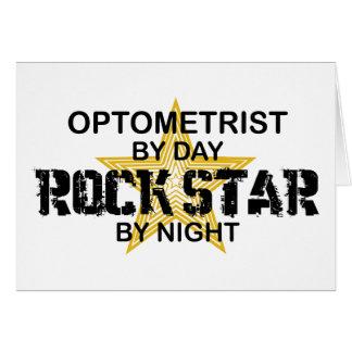's nachts de Ster van de Rots van de optometrist Kaart