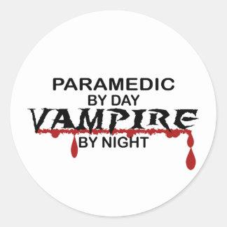 's nachts de Vampier van de paramedicus Ronde Sticker