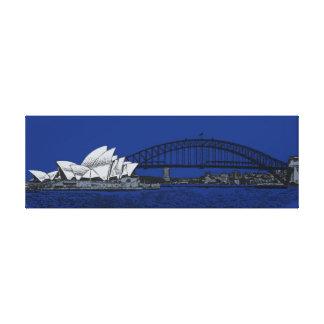's nachts Sydney Canvas Bedrukken