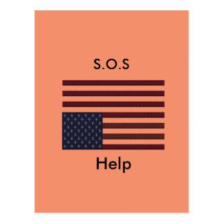 S.O.S hulp Briefkaart
