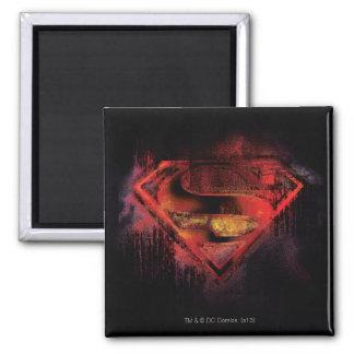 S-Schild | van de superman Geschilderd Logo Vierkante Magneet