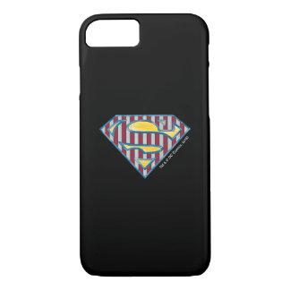 S-Schild | van de superman Gestreept Logo iPhone 7 Hoesje