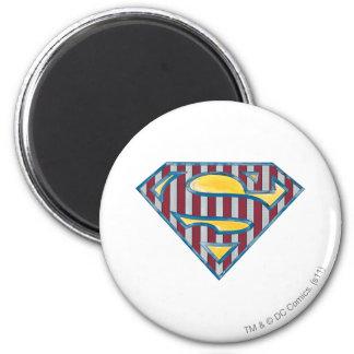 S-Schild | van de superman Gestreept Logo Ronde Magneet 5,7 Cm