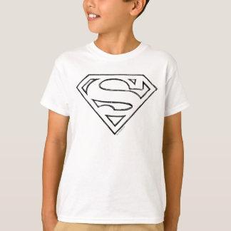 S-Schild   van de superman het Eenvoudige Zwarte T Shirt