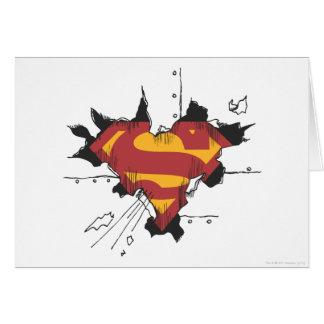 S-Schild | van de superman het Gebroken Logo van Wenskaart