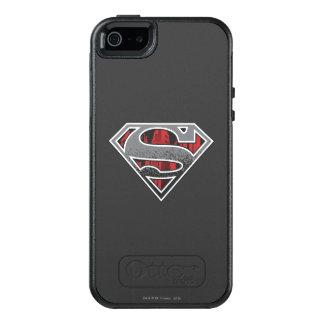 S-Schild | van de superman het Grijze en Rode Logo OtterBox iPhone 5/5s/SE Hoesje