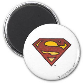 S-Schild | van de superman het Langzaam verdwenen Ronde Magneet 5,7 Cm
