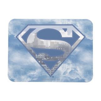 S-Schild | van de superman het Lichtblauwe Logo Rechthoekige Magneten