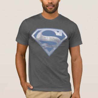S-Schild   van de superman het Lichtblauwe Logo T Shirt