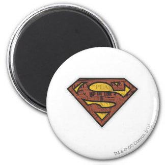 S-Schild   van de superman het Logo van de Krant Ronde Magneet 5,7 Cm