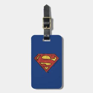 S-Schild | van de superman het Zwarte Logo van het Kofferlabels