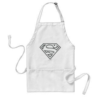 S-Schild | van de superman het Zwarte Logo van het Standaard Schort