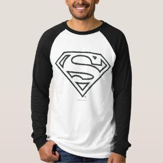 S-Schild | van de superman het Zwarte Logo van het T Shirt