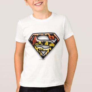S-Schild   van de superman het Zwarte Logo van T Shirt