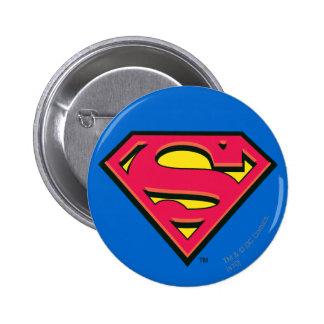 S-Schild | van de superman Klassiek Logo Ronde Button 5,7 Cm