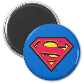 S-Schild   van de superman Klassiek Logo Ronde Magneet 5,7 Cm