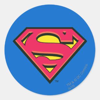 S-Schild | van de superman Klassiek Logo Ronde Stickers