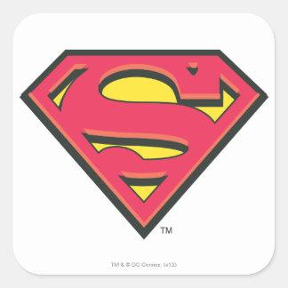 S-Schild | van de superman Klassiek Logo Vierkante Sticker