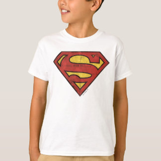 S-Schild | van de superman Logo Grunge T Shirt