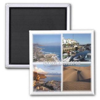 S * Spanje - Gran Canaria - Canarische Eilanden Vierkante Magneet