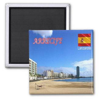 S - Spanje - Lanzarote - Arrecife Vierkante Magneet