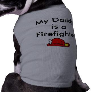 SAA1697, is Mijn Papa een Brandbestrijder Mouwloos Hondenshirt