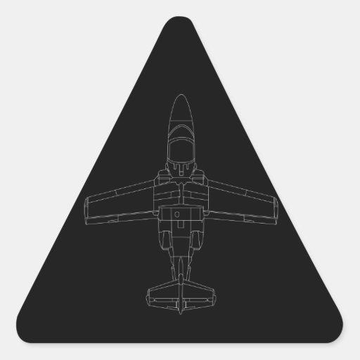SAAB 105 Zwarte Sticker