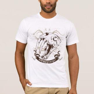 Sabel-tand de Schedel Version2 van de Kat T Shirt