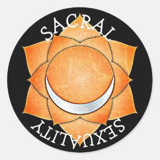 Sacral Stickers van Chakra van de Chi van de
