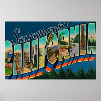 Sacramento, de Scènes van de Brief CaliforniaLarge Poster