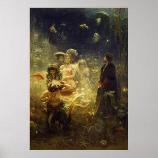 Sadko in de OnderwaterMeermin van Ilya Repin van Poster