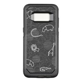 safari dieren 5 OtterBox commuter samsung galaxy s8 hoesje