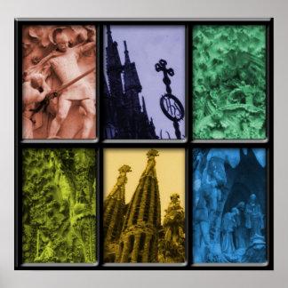 Sagrada Familia Montering Poster