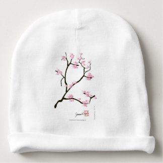 sakura bloesem met roze vogels, tony fernandes baby mutsje