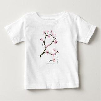 sakura bloesem met roze vogels, tony fernandes baby t shirts