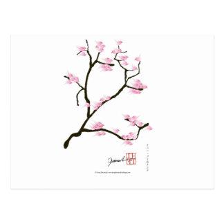 sakura bloesem met roze vogels, tony fernandes briefkaart