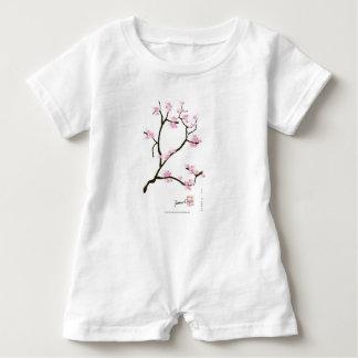 sakura bloesem met roze vogels, tony fernandes romper