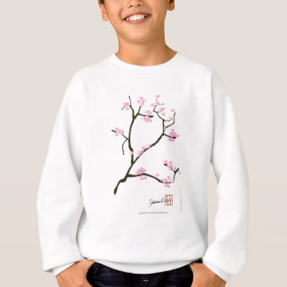 sakura bloesem met roze vogels, tony fernandes trui